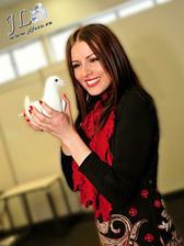 Biele holubice na svadbe - ocarili aj Mirku Kalisovu