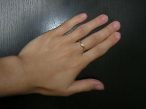 """nový prstýnek znamenající """"nový život"""", který jsem dostala v našem novém bytě"""