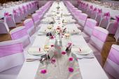 Fuchsiovo - stříbrná dekorace na svatební stůl,