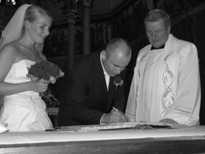 a podpis ženicha