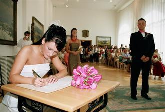 podpis nevěsty - mladé paní Marvanové