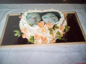 naša torta s fotkou