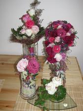 kytička pro maminku, moje kytka, kytičky na svatební tabuly, polštářek na prstýnky