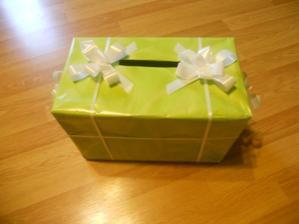 Truhlička na dárky do obálky a blahopřání