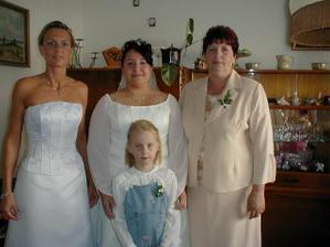 Sestra jako svědek neteř Barunka a maminka