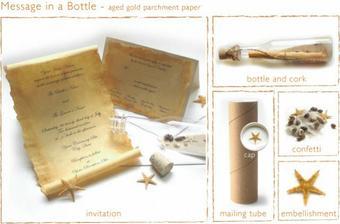 Velmi originalni napad - svatebni oznameni v lahvi. Libilo se nam, ale nakonec jsme se rozhodli pro jine :-(