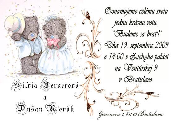 """Deň """"D"""" 19.9.2009 - naše oznámenie :)"""