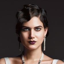 hair inspiration:-) ten make-up ala morticia to nie:-))