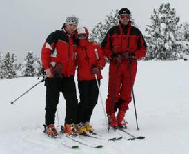 tulící lyžaři:-)