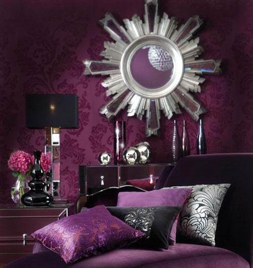 Luxus vo fialovej - purpurová so striebrom