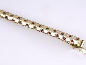 kravatová spona pro ženicha - originál český granát