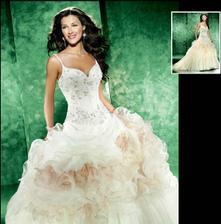 moje svatební šatičky na modelíně:-)