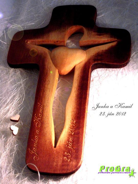 Svadobné krížiky - siluetkový krížik