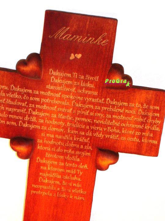 Svadobné krížiky - tmavý krížik s textom