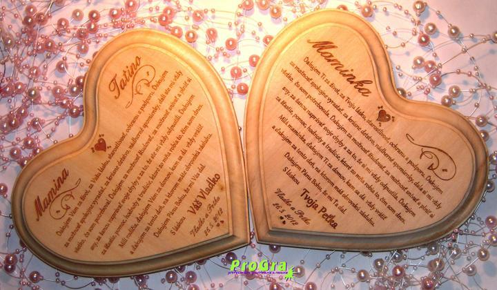 Poďakovanie rodičom - text prispôsobujeme požiadavkám svadobných párov