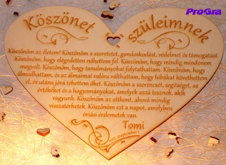 Poďakovanie rodičom - na želanie vyrobíme srdiečka aj v inom ako slovenskom jazyku :-) - zmeny v texte sú bezplatné