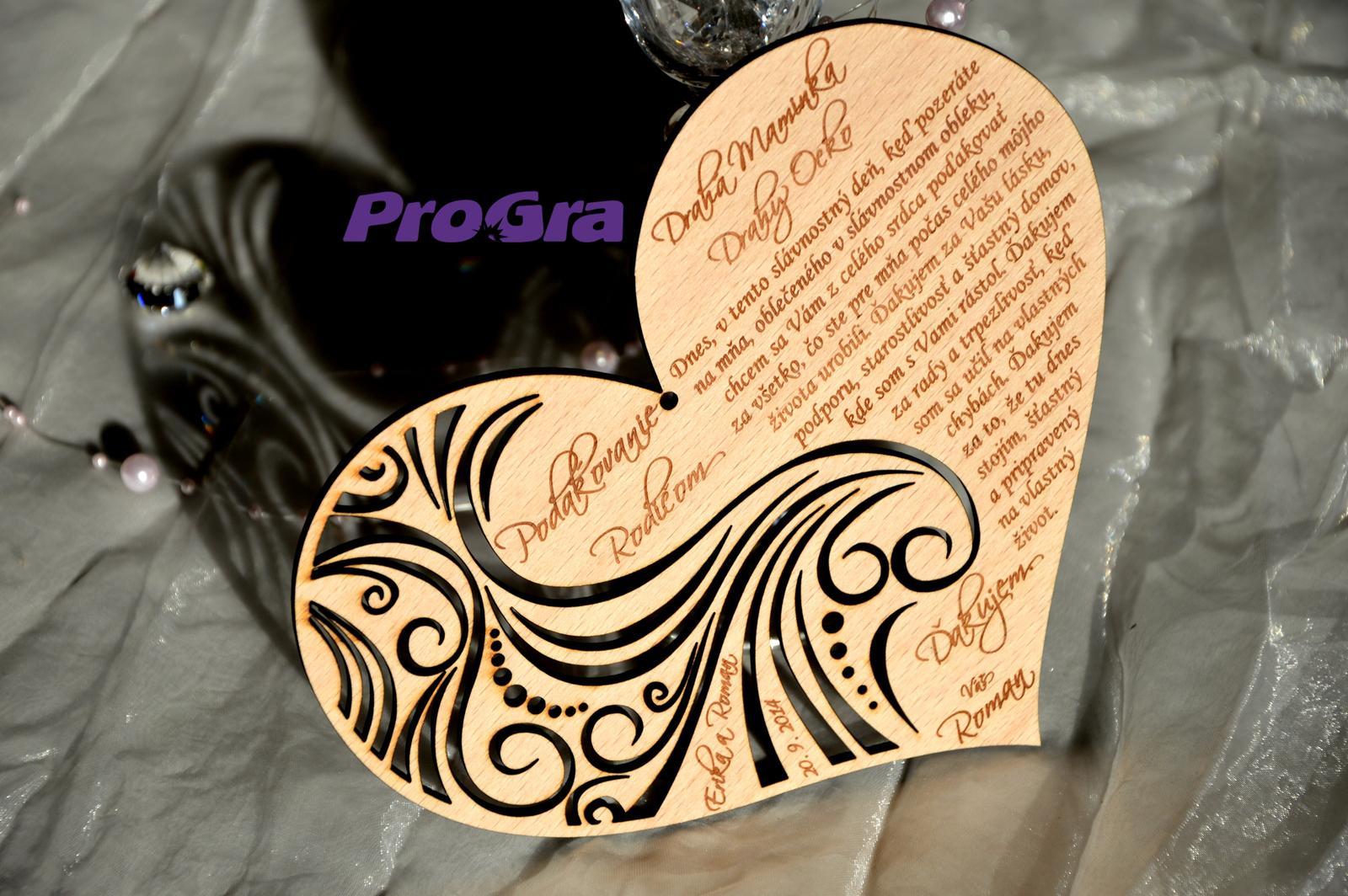 Poďakovanie rodičom - nájdete už aj v našom e-shope www.progra.sk