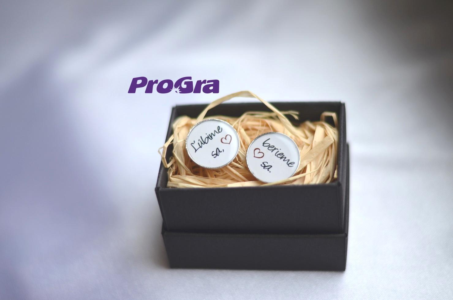 Detaily pre Váš svadobný deň - Ľúbime sa - berieme sa 2 - manžetové gombičky