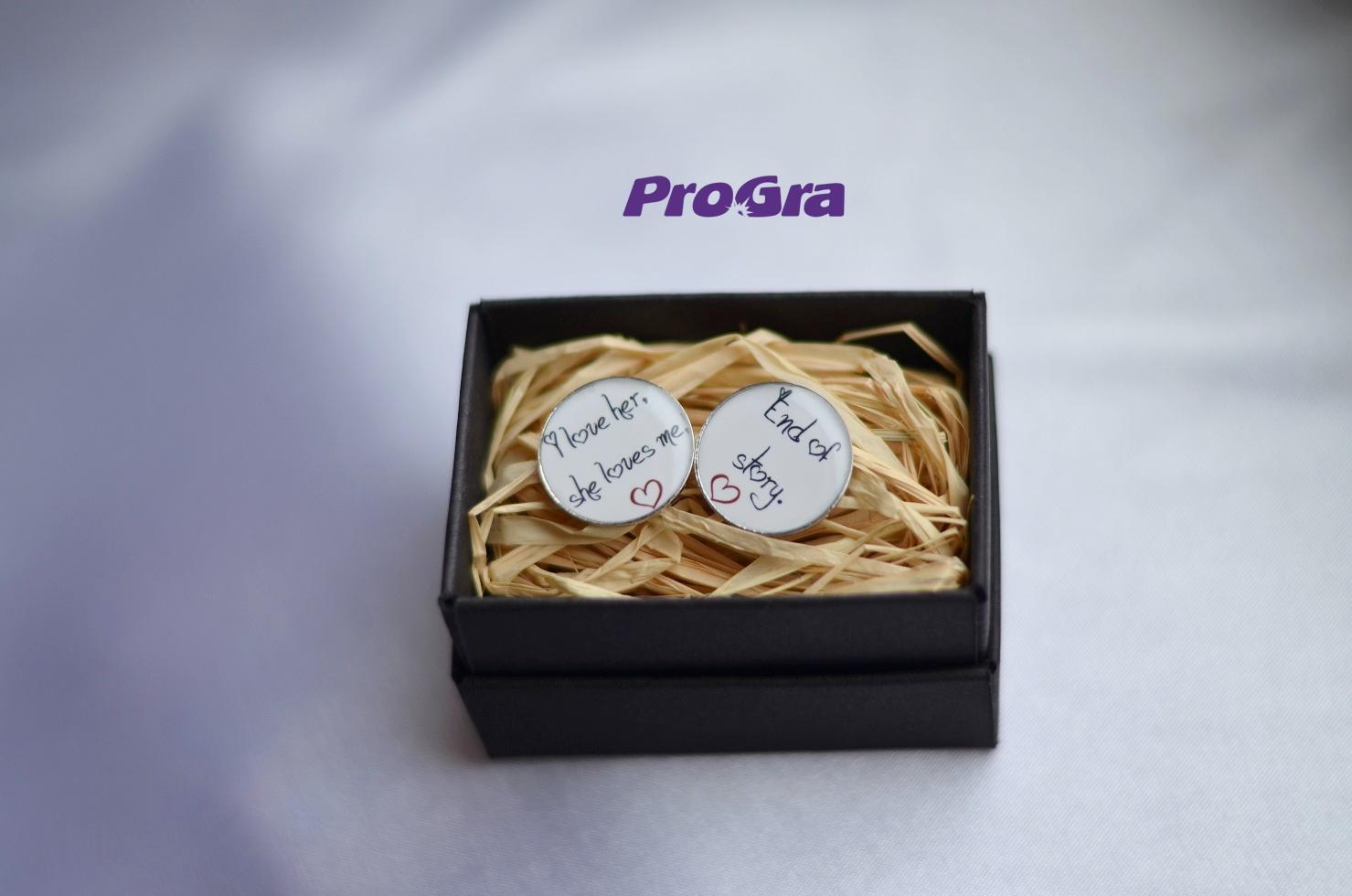 Detaily pre Váš svadobný deň - End of Story - manžetové gombičky
