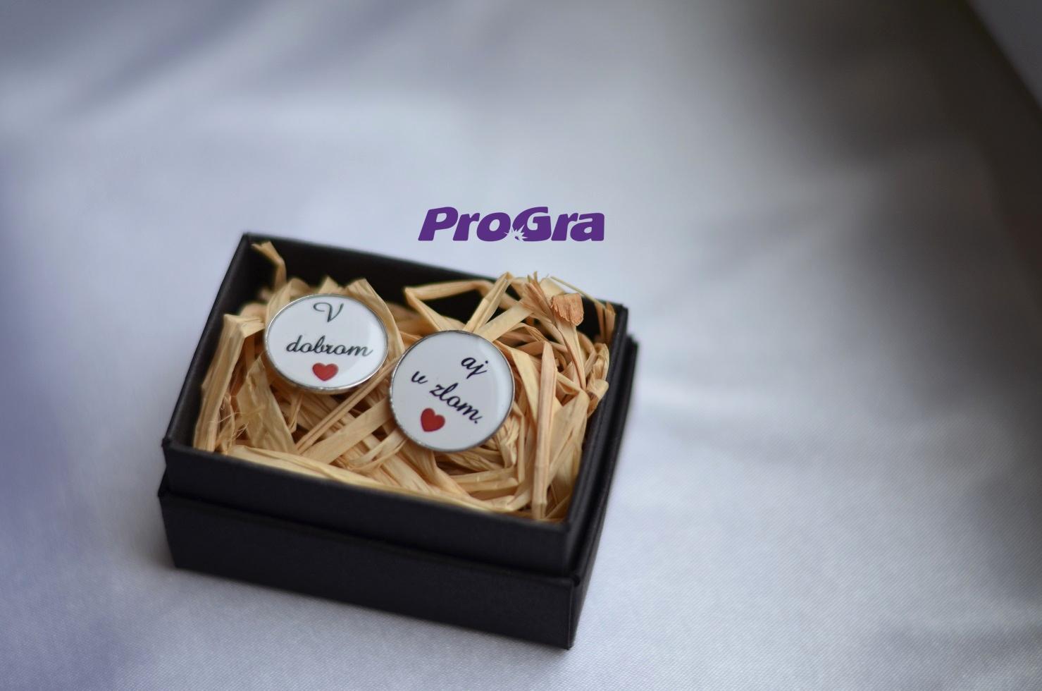 Detaily pre Váš svadobný deň - V dobrom aj v zlom - manžetové gombičky