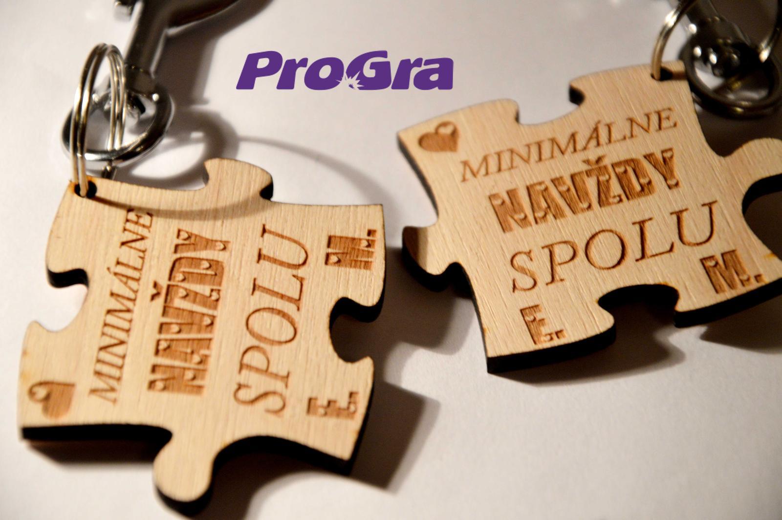 Po svadbičke - Sada drevených príveskov z našej ponuky - je možné personalizovať podľa priania