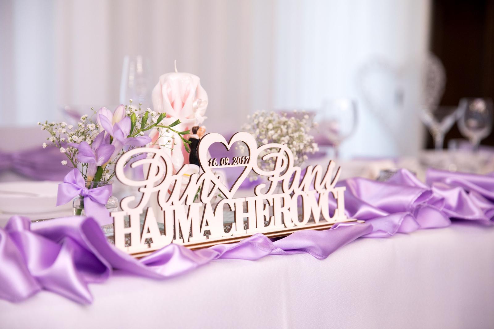Detaily pre Váš svadobný deň - foto stojančeka zo svadbičky spokojných zákazníkov - ďakujeme