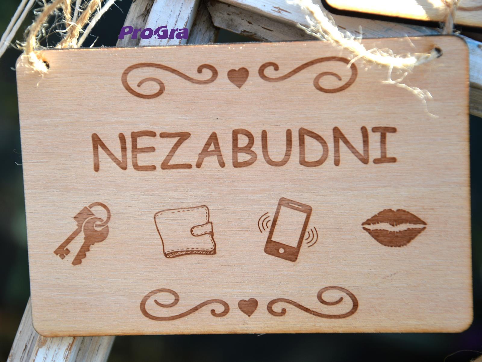 Po svadbičke - tabuľka natur - Nezabudni