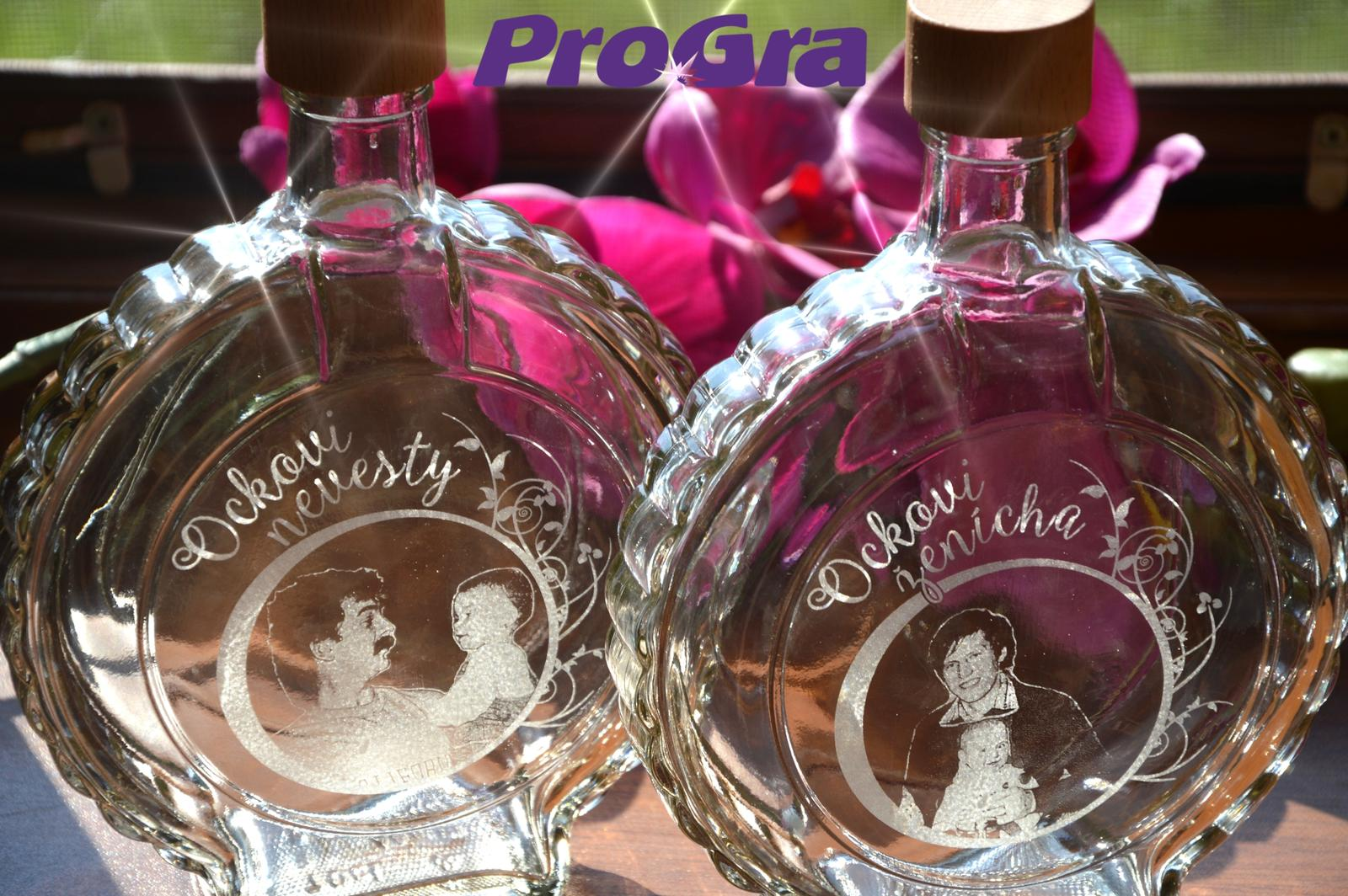 Poďakovanie rodičom - krásny darček pre svadobných ockov s gravírovaním od ProGra :-)