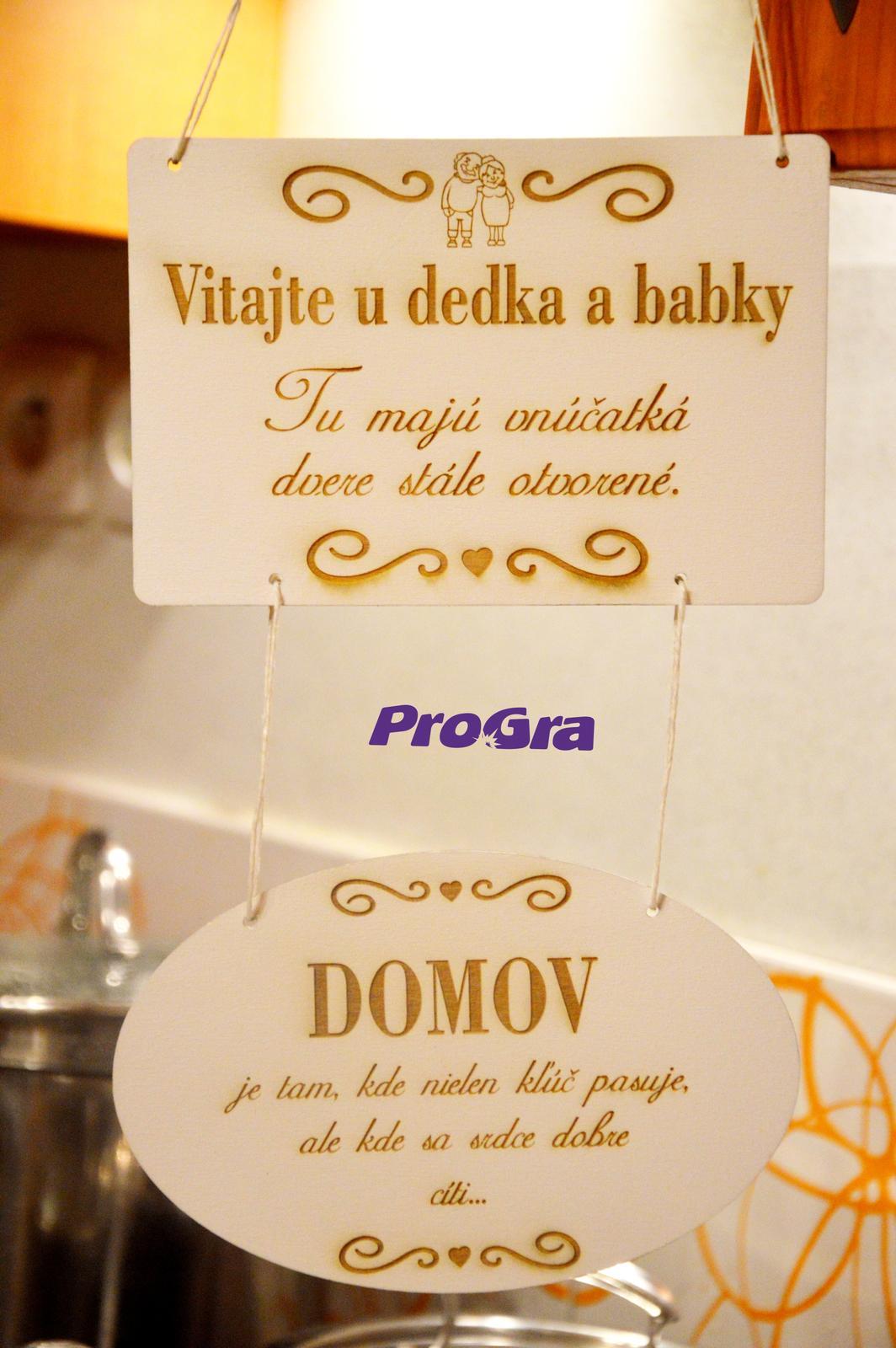 Po svadbičke - milé tabuľky pre Vás vyrobíme s nápiskami podľa priania