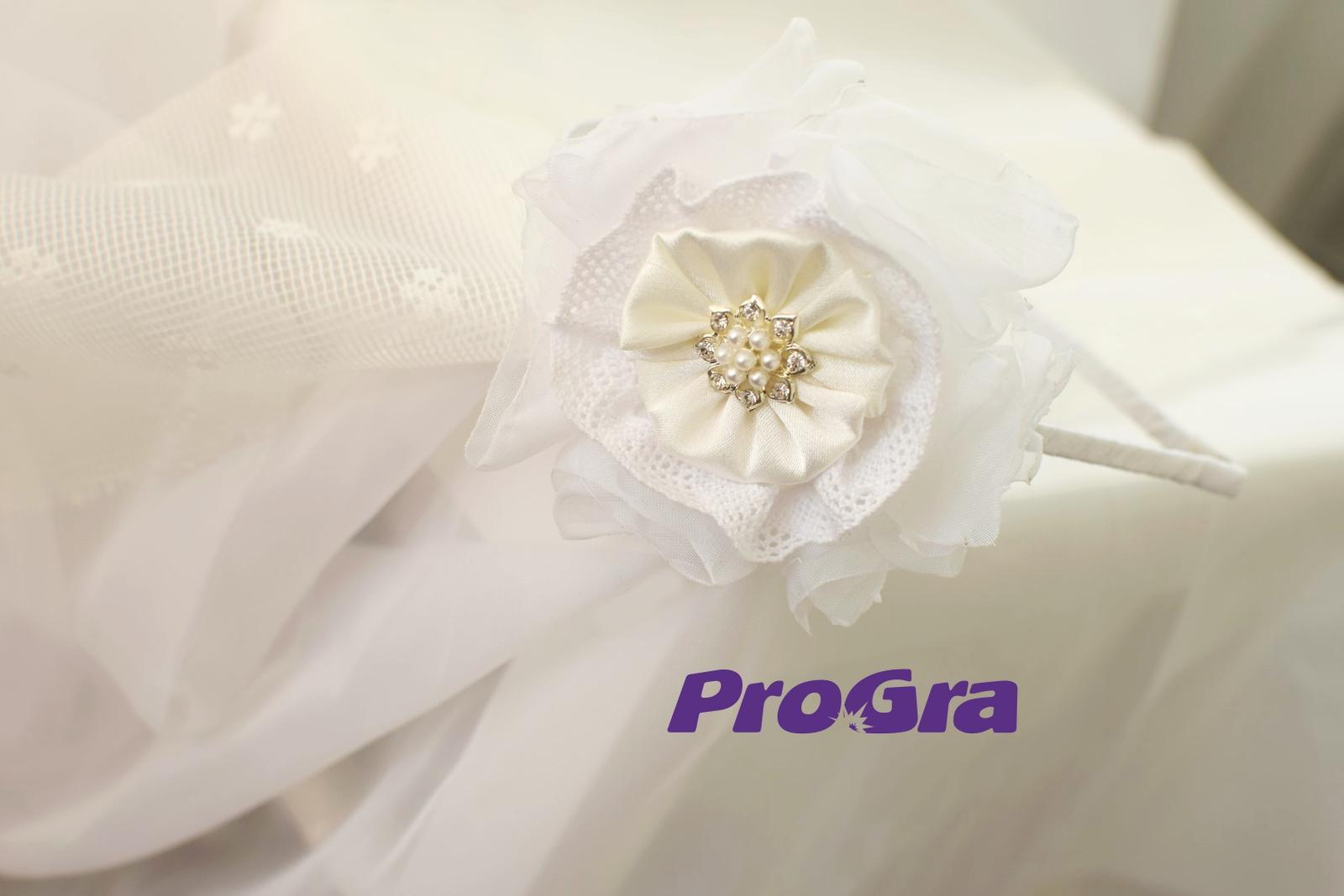 Snehulienka - svadobná čelenka - Obrázok č. 1