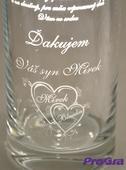 Poďakovanie rodičom - gravírovaná váza Olympia,