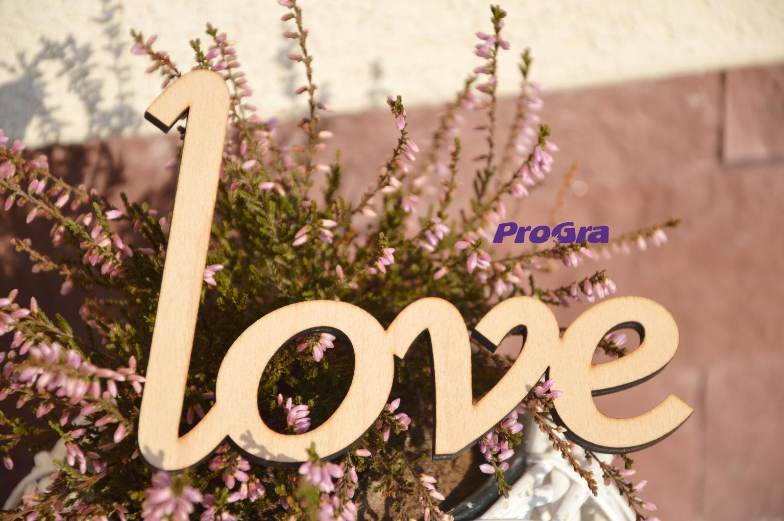 """Nápis """"love"""" - Maxi - Obrázok č. 1"""