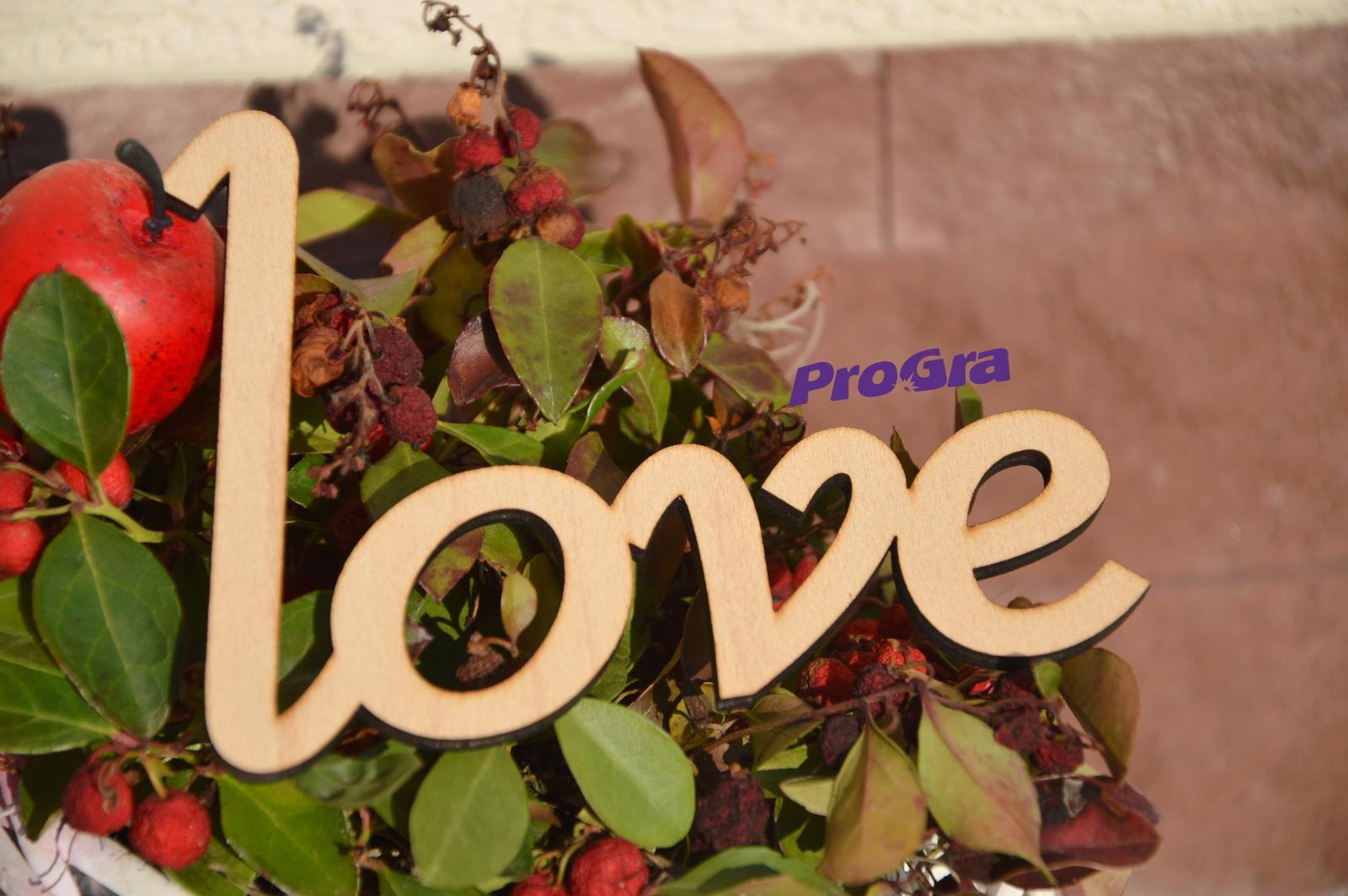"""Nápis """"love"""" - Maxi - Obrázok č. 2"""