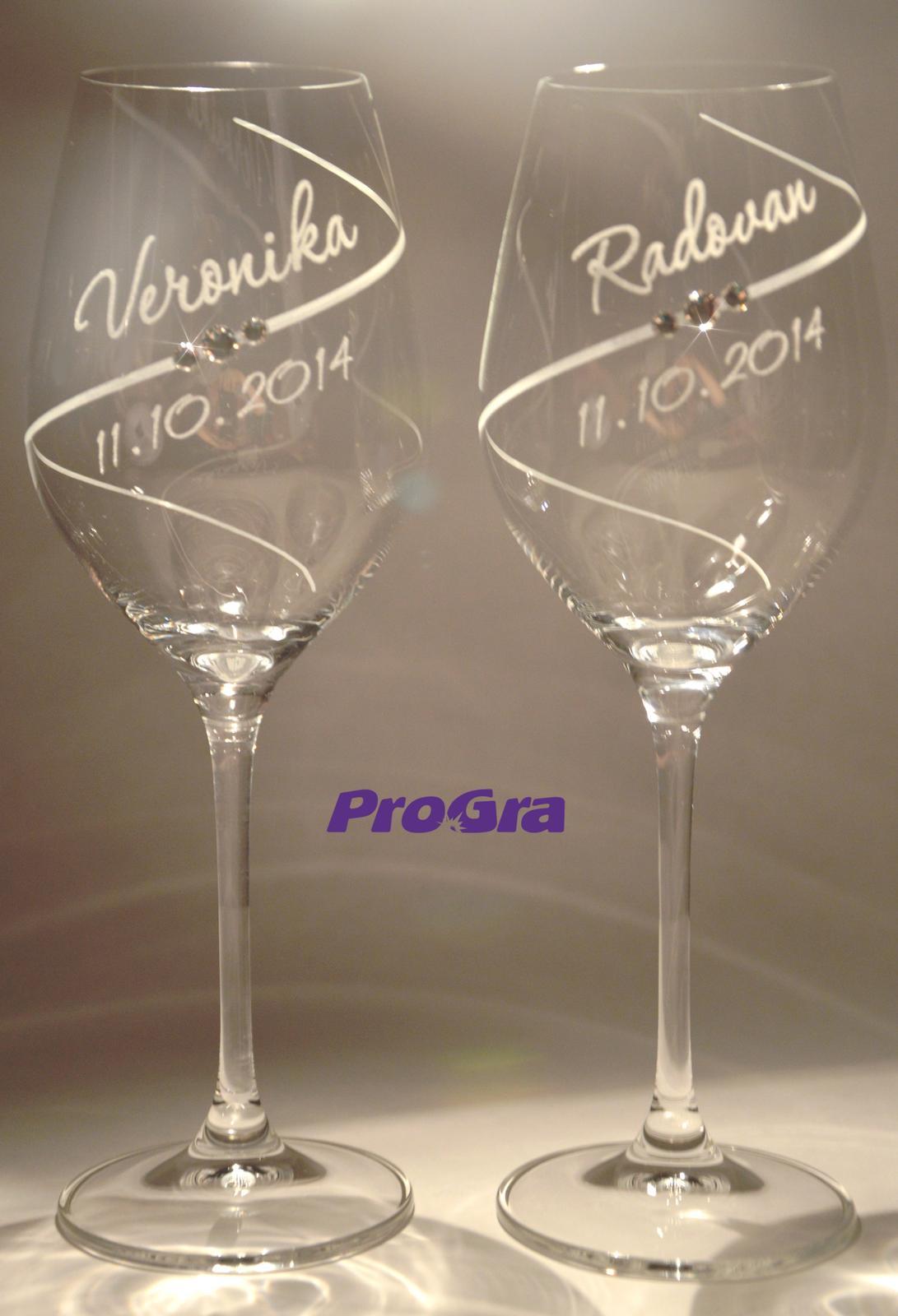 Erin - svadobné poháre 2ks - Obrázok č. 2