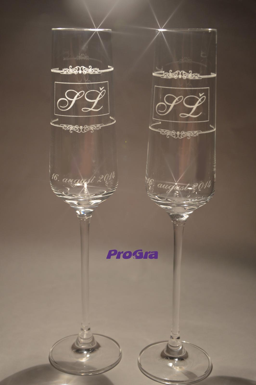 Trinity - svadobné poháre - 2 ks Trinity - Obrázok č. 2