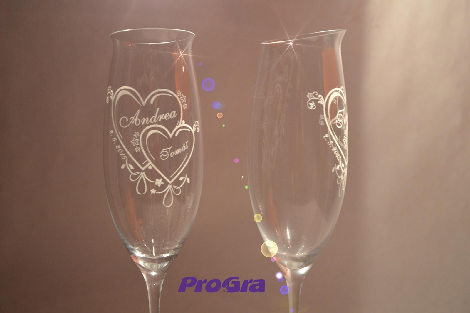 Jasmine - svadobné poháre - 2 ks - Obrázok č. 1