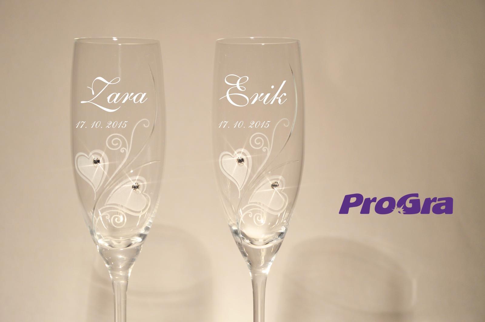 Zara - svadobné poháre - 2ks - Obrázok č. 1