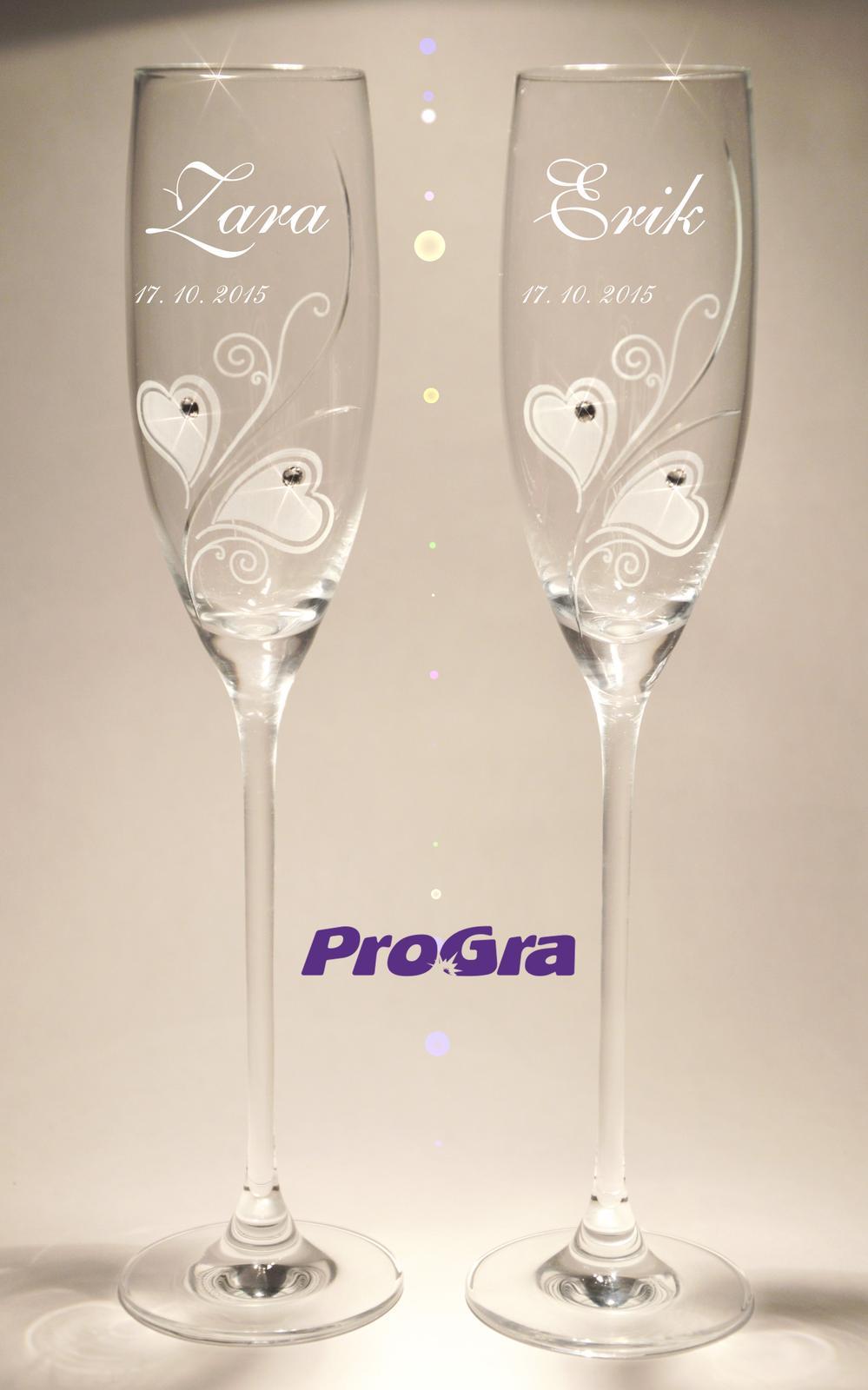 Zara - svadobné poháre - 2ks - Obrázok č. 2
