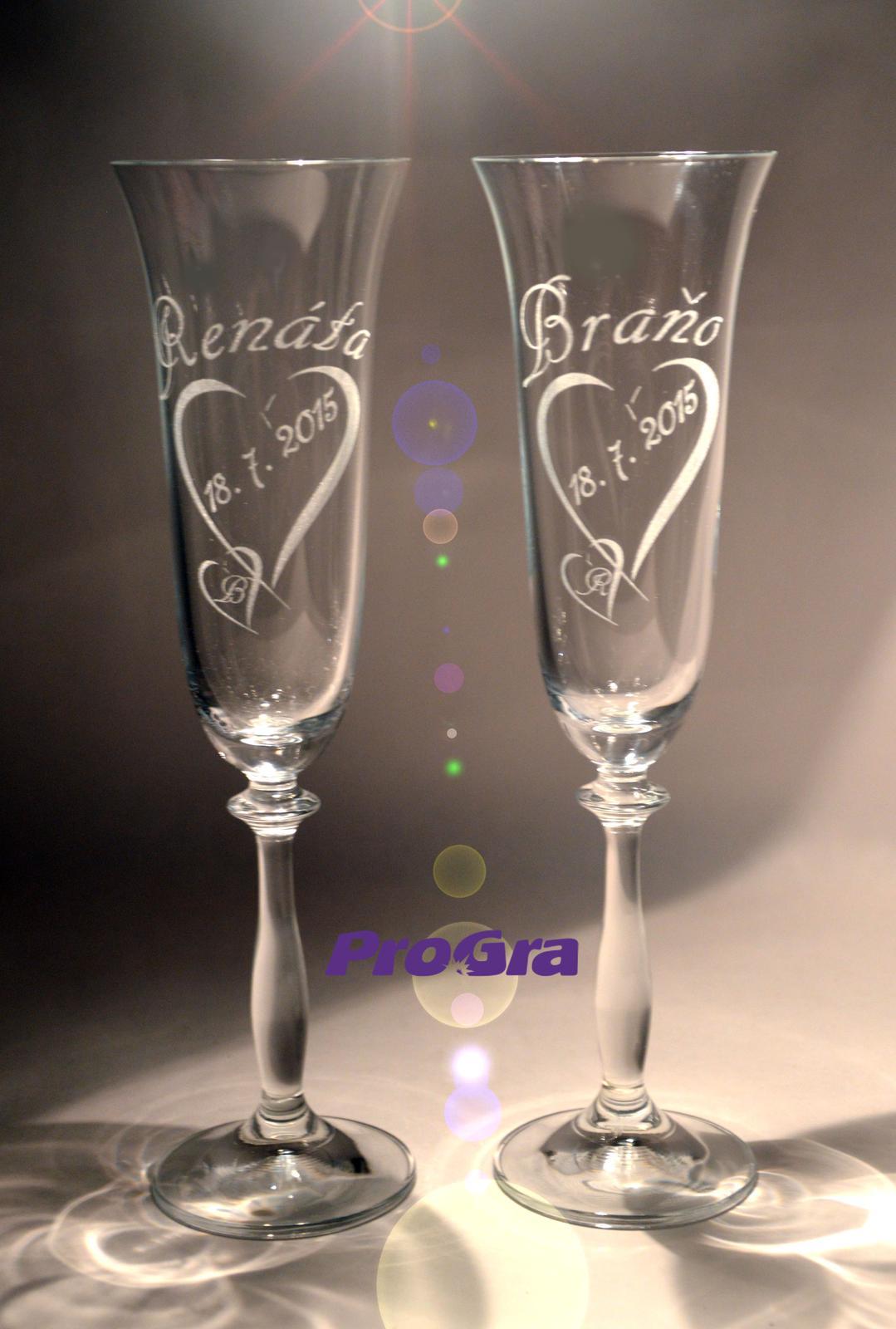 Angela - svadobné poháre 2ks - Obrázok č. 2