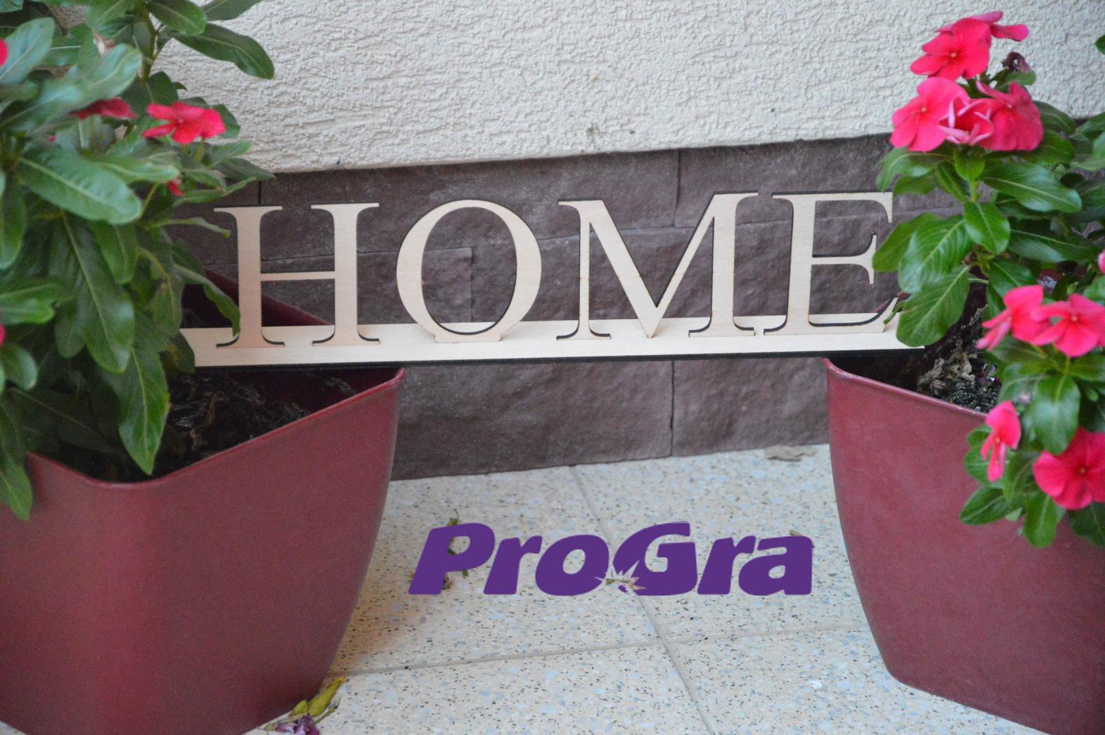 HOME - drevený nápis na stojančeku - Obrázok č. 2