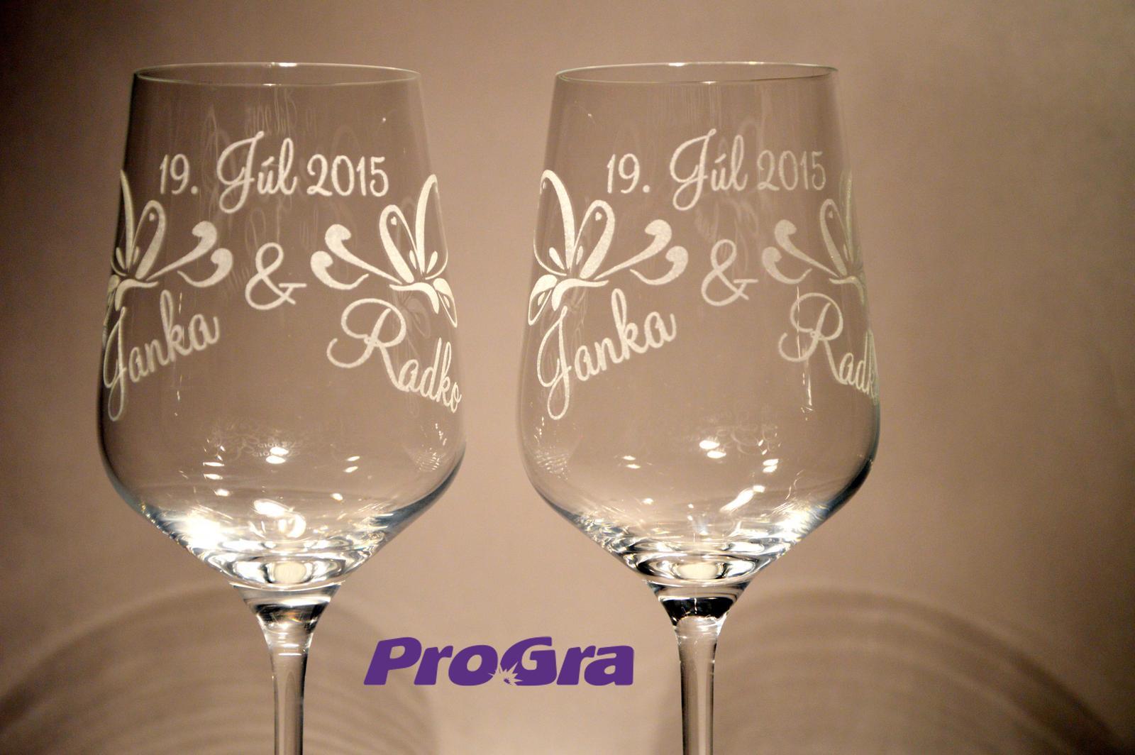 Lilien - svadobné čaše - 2 ks - Obrázok č. 1
