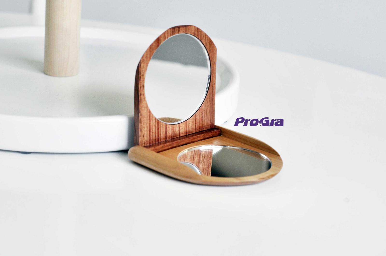 zrkadielko drevené - svadobný darček - Obrázok č. 3