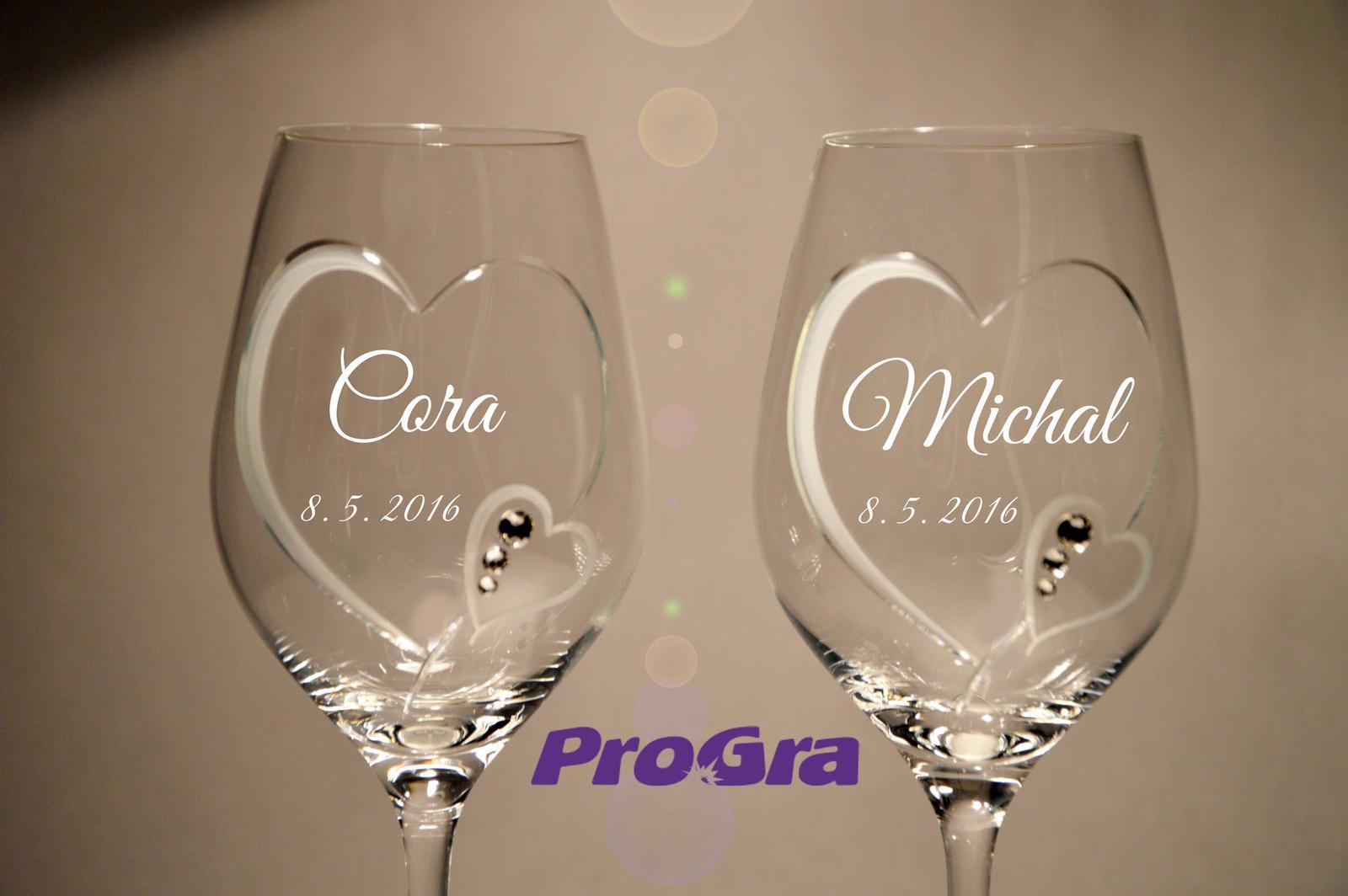 Cora - svadobné poháre 2ks - Obrázok č. 1