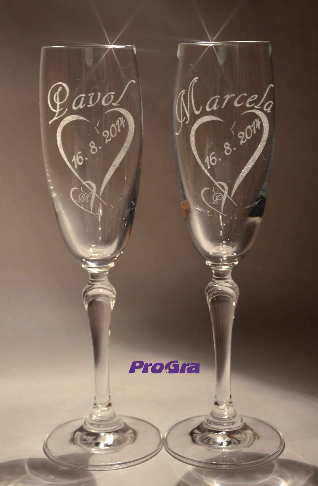 Svadobné poháre Corynne - Obrázok č. 2