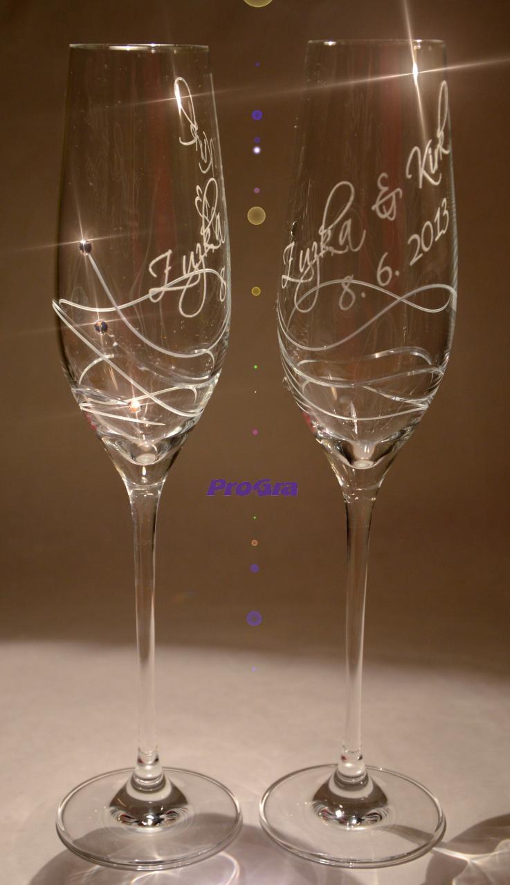 Gabrielle - svadobné poháre 2 ks - Obrázok č. 1
