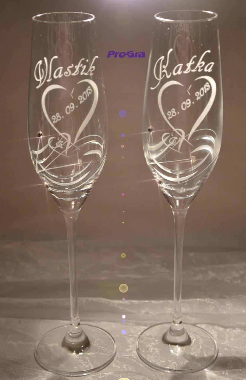 Ingrid - svadobné poháre 2 ks - Obrázok č. 1