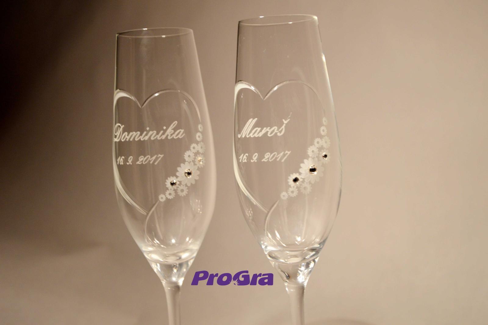 Chloe - svadobné poháre 2ks - Obrázok č. 2