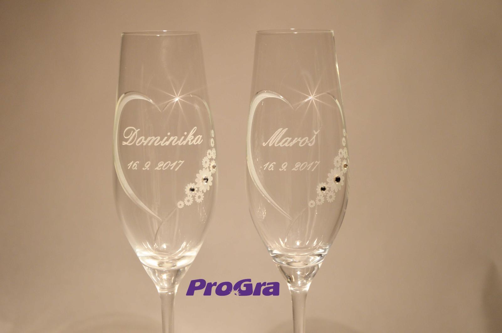 Chloe - svadobné poháre 2ks - Obrázok č. 3