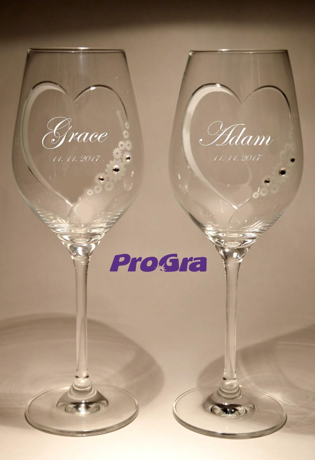 Grace - svadobné poháre 2ks - Obrázok č. 2
