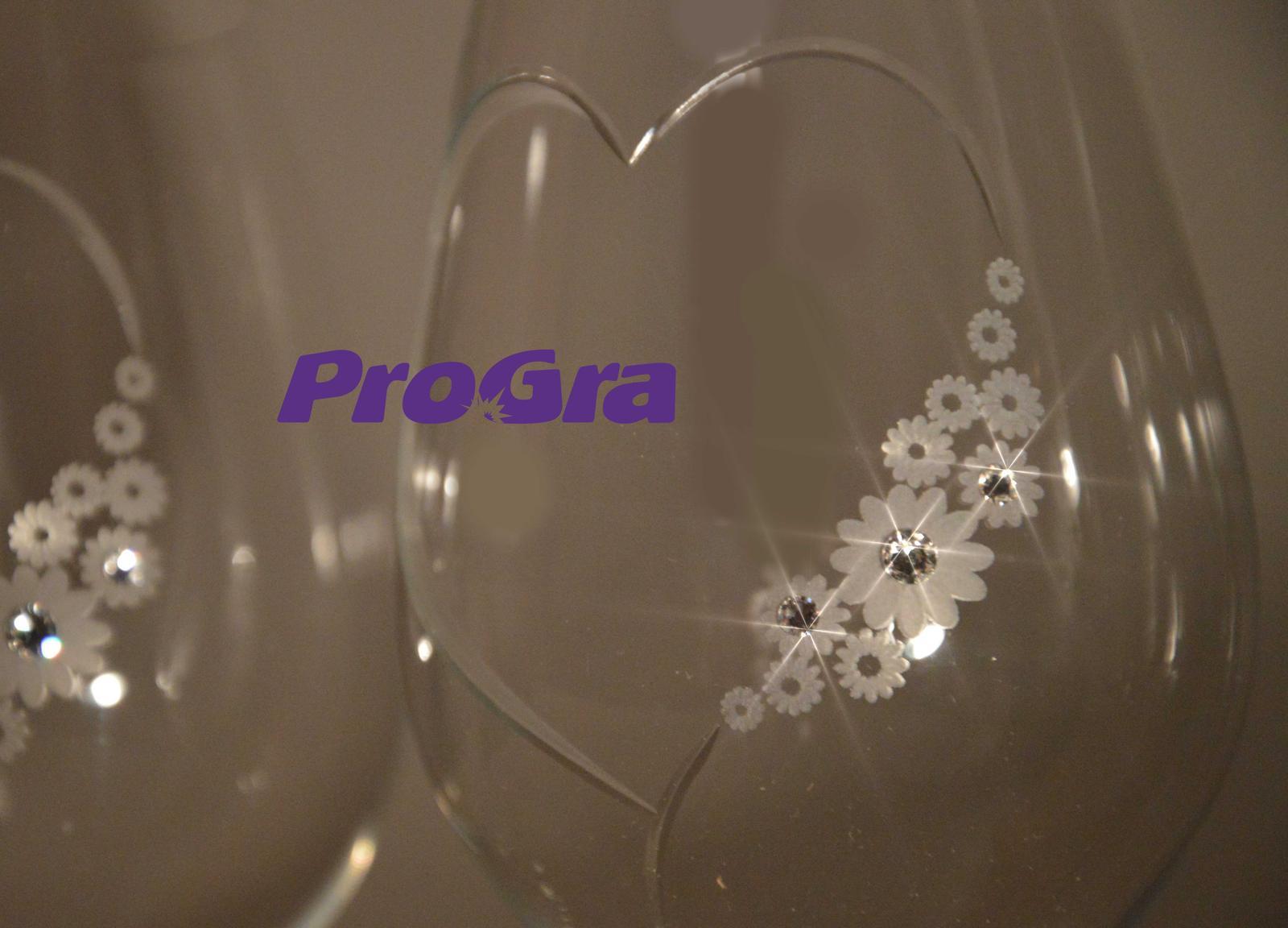 Grace - svadobné poháre 2ks - Obrázok č. 3